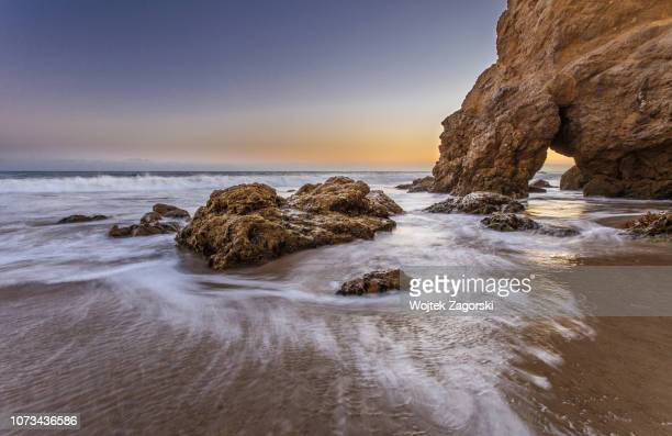 el matador state beach - malibu beach stock pictures, royalty-free photos & images