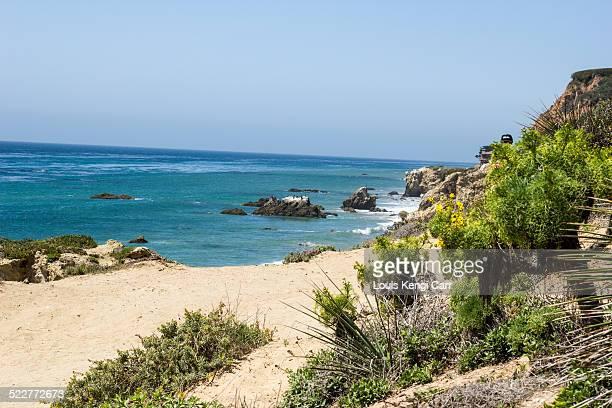el matador state beach - malibu stock pictures, royalty-free photos & images