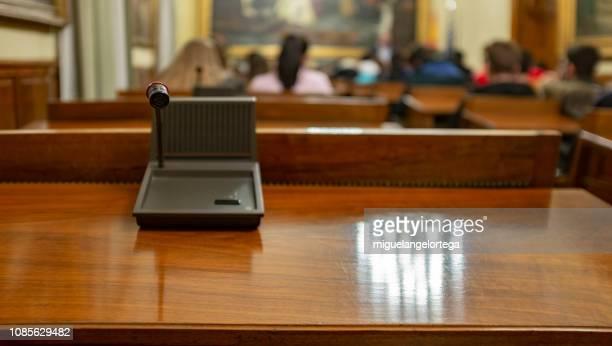 El micrófono del parlamentario