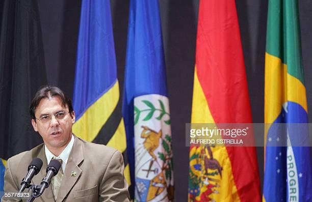 El ministro de Trabajo y Empleo de Brasil Luiz Marinho habla durante la inauguracion de la XIV Conferencia Interamericana de Ministros de Trabajo en...