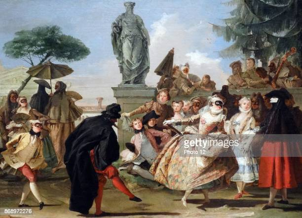 El minuet 1756 by Giovanni Domenico Tiepolo 17271804 Oil on canvas The minuet is inspired by the protagonists in the 'Commedia dell'arte' by Carlo...