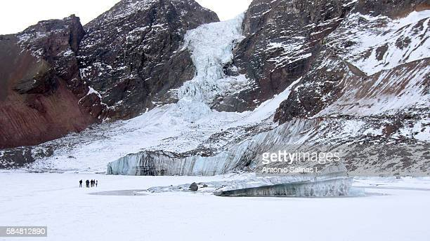 el morado glacier, near santiago de chile. at el cajon del maipo - tundra stock pictures, royalty-free photos & images