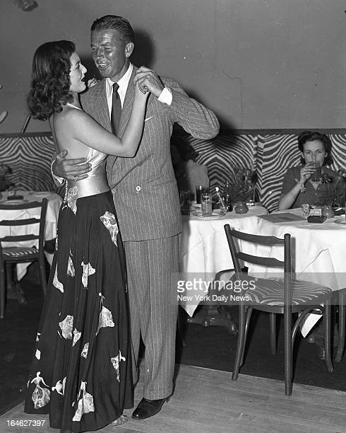 El Morocco Night Club Bruce Cabot with Brenda Frazier Society Glamour gal at the El Morocco where they joined the festivities with Franklin D...