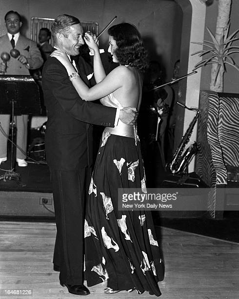 El Morocco Night Club Mrs John Kelly aka Brenda Frazier #1 Society gal dancing with our down Dan Walker tossing up a mean Rhumba