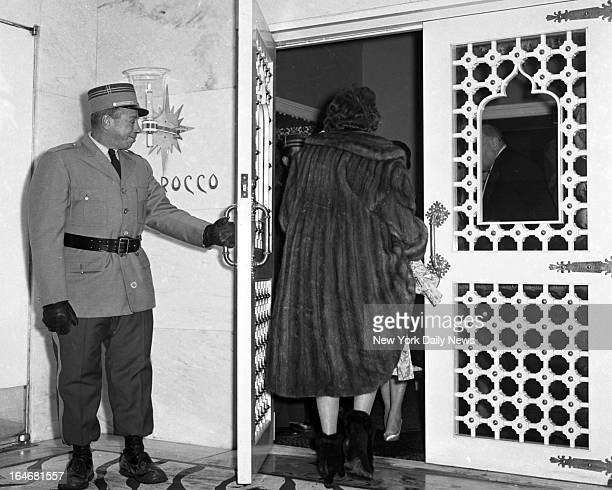 El Morocco Night Club reopens Doorman Vincent DiGiovanni opens ornate door There was revolving doors at former spot