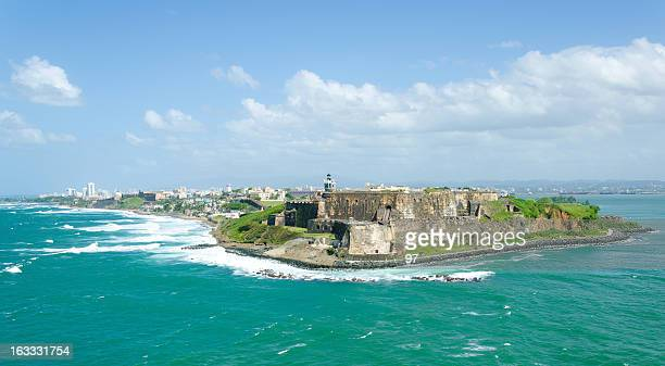 el morro castle in old san juan, puerto rico. - puerto rico stock pictures, royalty-free photos & images