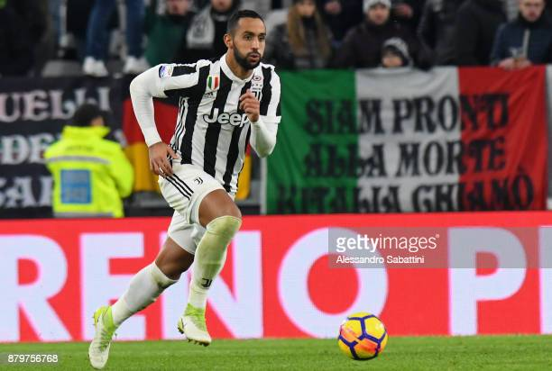 El Mouttaqui Benatia of Juventus in action during the Serie A match between Juventus and FC Crotone at Allianz Stadium on November 26 2017 in Turin...