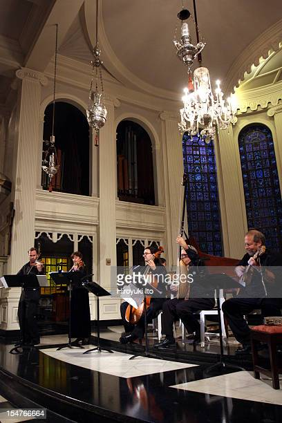 """El Mundo performing at Corpus Christi Church on Sunday afternoon, October 14, 2012.The program is titled """"The Kingdoms of Castille: Soanish, Italian,..."""