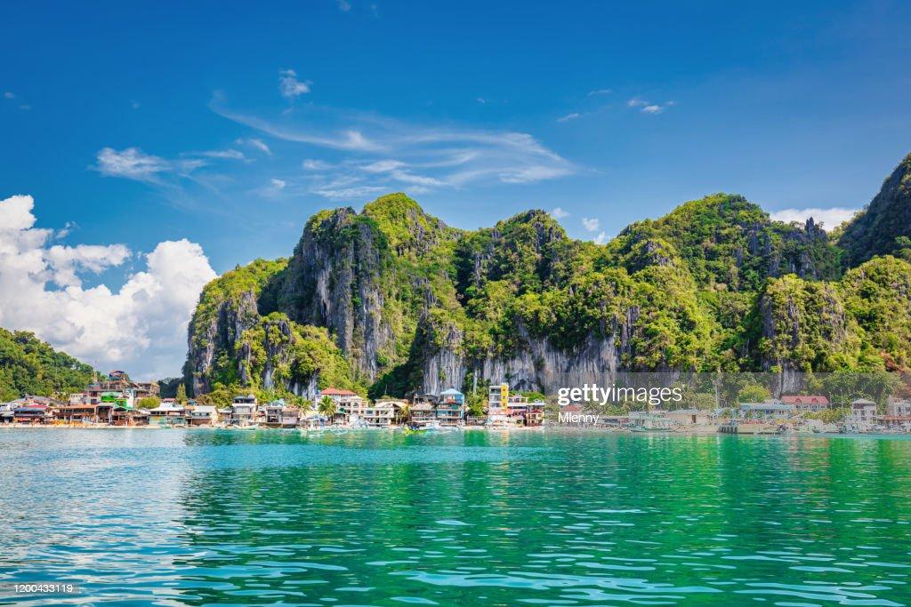 El Nido Harbor Waterfront Palawan Phillippines : Stock Photo
