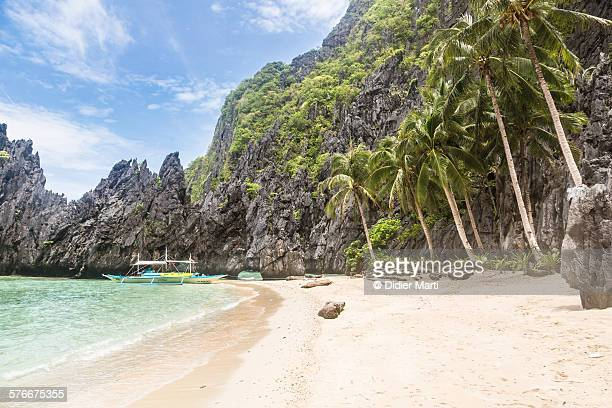 el nido idyllic beach in palawan - didier marti stock photos and pictures
