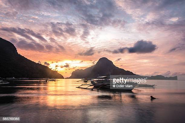 El Nido sunset in Palawan, Philippines