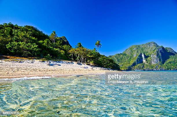 el nido's helicopter island - el nido stock pictures, royalty-free photos & images