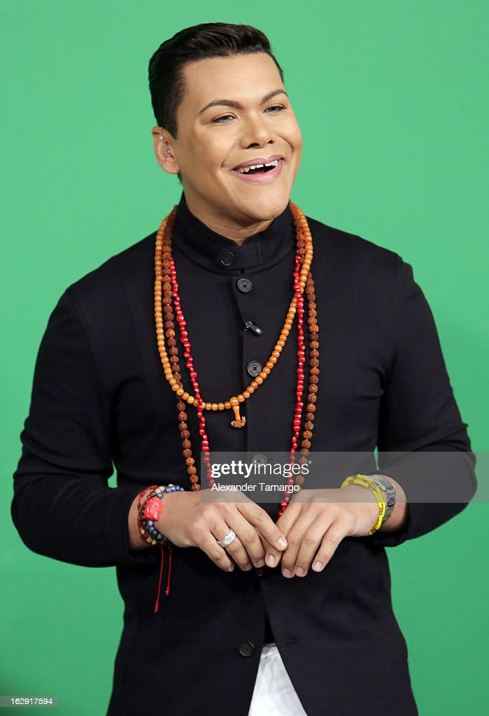 El Nino Prodigio celebrates Univision's Tlnovelas cable network first anniversary on Despierta America at Univision Headquarters on March 1, 2013 in Miami, Florida.