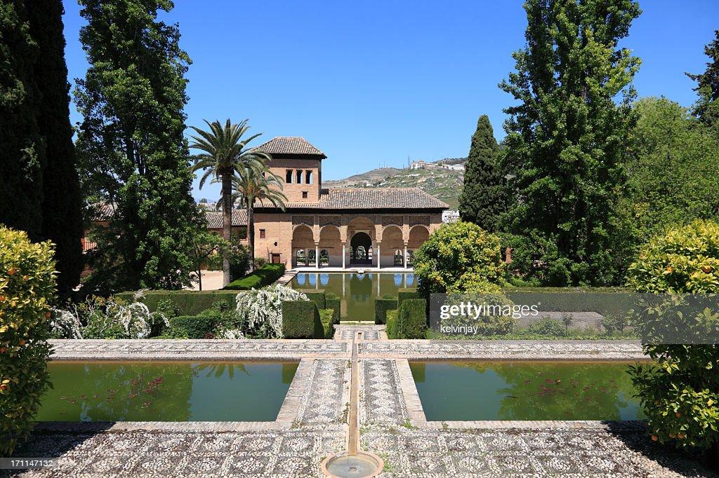 El Partal in the Alhambra Gardens, Granada : Stock Photo