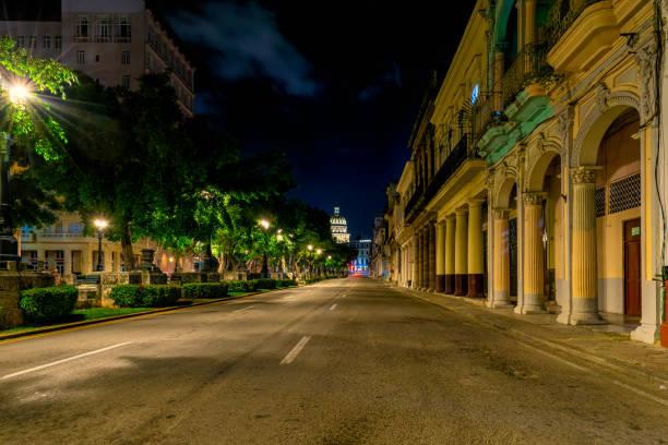 El Paseo del Prado at Night, Havana, Cuba