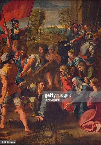 El Pasmo de Sicilia' c1515 Christ Carrying the Cross to his crucifixion at the moment when he falls his mother kneels in agony and devotion...