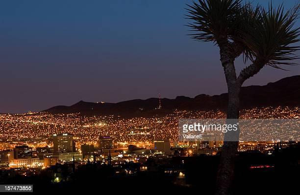 el paso at night - ciudad juarez stock photos and pictures