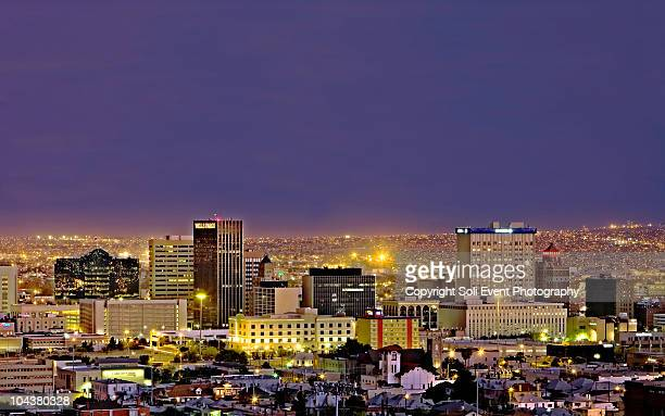 el paso nightscape - el paso stock pictures, royalty-free photos & images