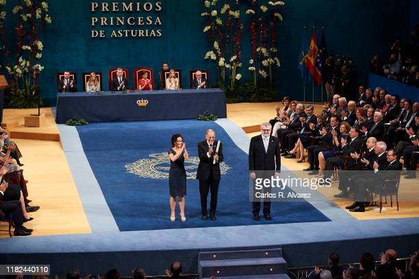 El Prado Museum, Javier Solana , receives the Princess of Asturias Award for the communication and humanities 2019 from Princess Leonor of Spain...