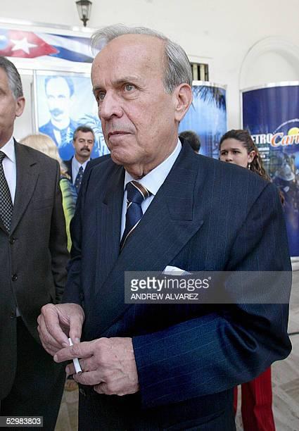 El presidente de la Asamblea Nacional de Cuba, Ricardo Alarcon, visita la Asamblea Nacional de Venezuela en Caracas, el 26 de mayo de 2005. Alarcon...