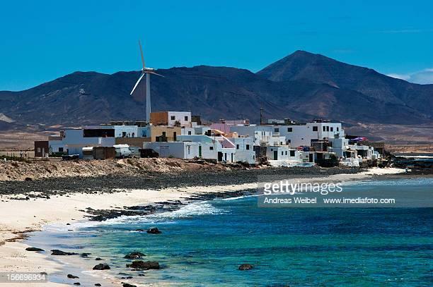 el pueblo puerto de la cruz - península de jandía - american style windmill stock pictures, royalty-free photos & images