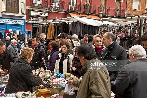 El Rastro outdoor market Madrid Spain