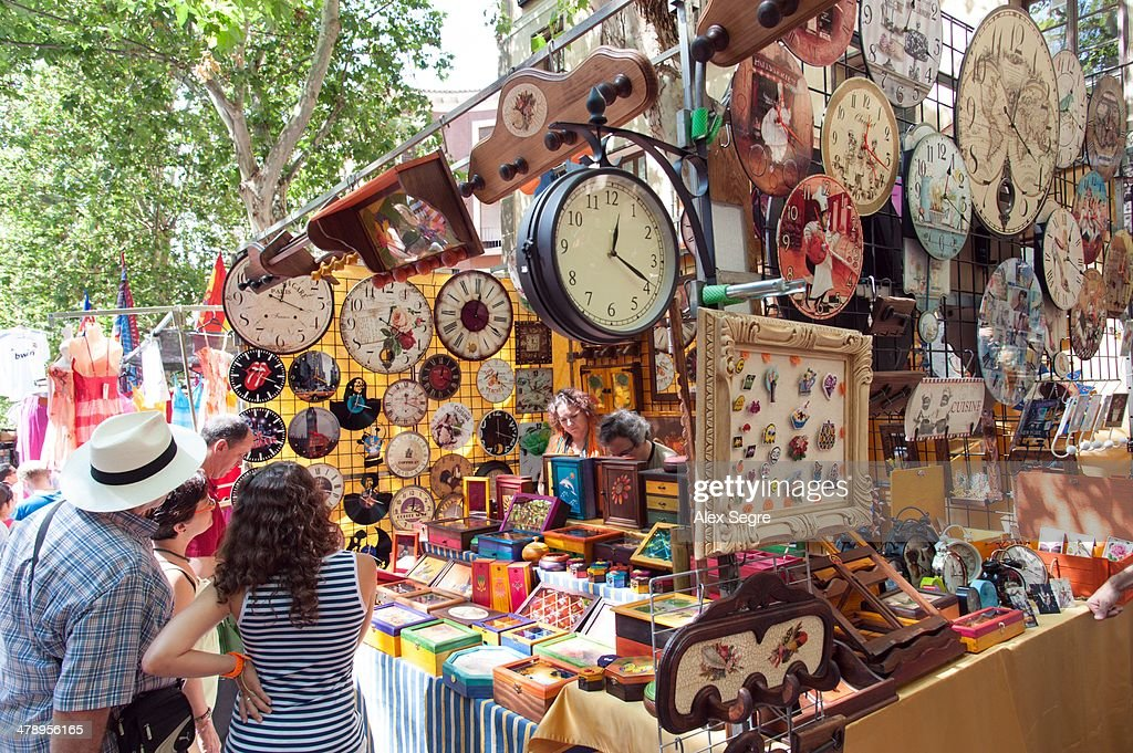 El Rastro street market, Madrid, Spain