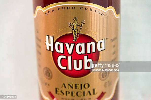 El Ron de Cuba Closeup of a Special Aged Havana Club rum bottle Havana Club brand of rum created in 1934 is one of the bestselling rum brands in the...