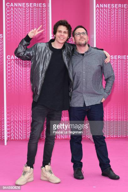 El Rubius and a guest attend Miguel and Undercover screening during the 1st Cannes International Series Festival at Palais des Festivals on April 10...