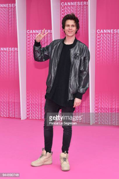 El Rubius attends Miguel and Undercover screening during the 1st Cannes International Series Festival at Palais des Festivals on April 10 2018 in...