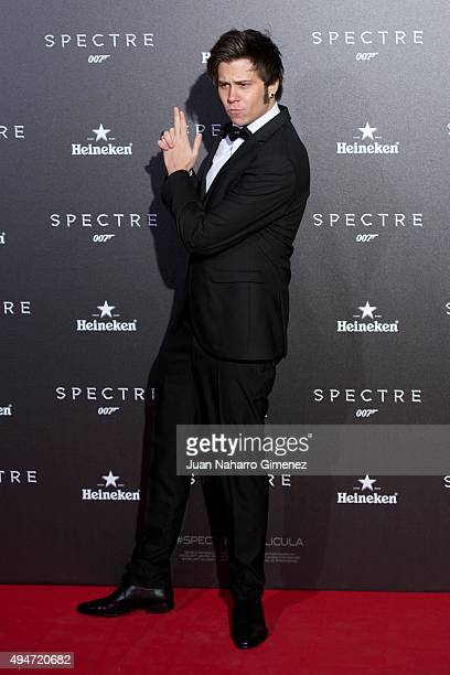 El Rubius attends 'SPECTRE 007' premiere at Teatro Real on October 28 2015 in Madrid Spain