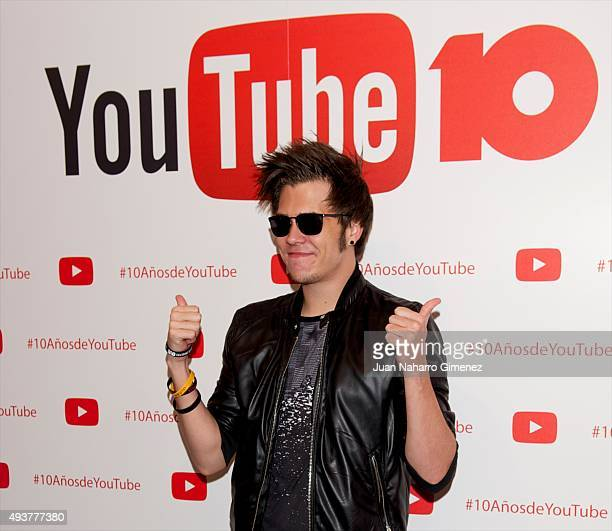 El Rubius attends YouTube 10th Anniversary Gala at Giner de los Rios Foundation on October 22 2015 in Madrid Spain