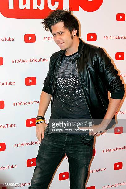 El Rubius attends YouTube 10th Anniversary Gala on October 22 2015 in Madrid Spain