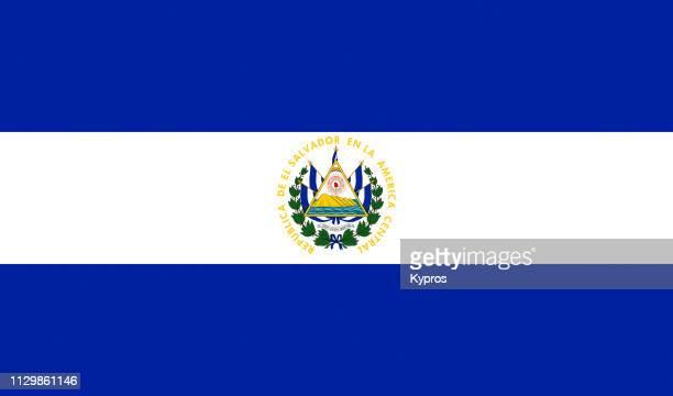 el salvador flag - el salvador stock pictures, royalty-free photos & images