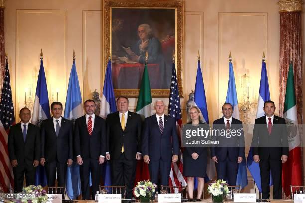 El Salvador Vice President Oscar Ortiz, Honduras President Juan Orlando Hernandez, Mexican Foreign Secretary Luis Videgaray, U.S. Secretary of State...