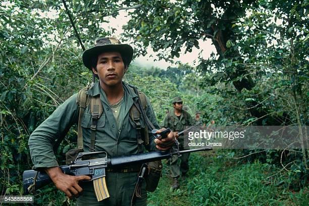 El Salvadoran army on operation in Morazan area | Location Morazon El Salvador