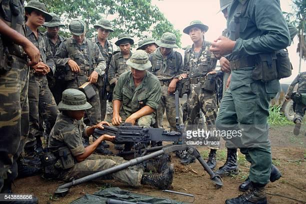 El Salvadoran army training in Honduras