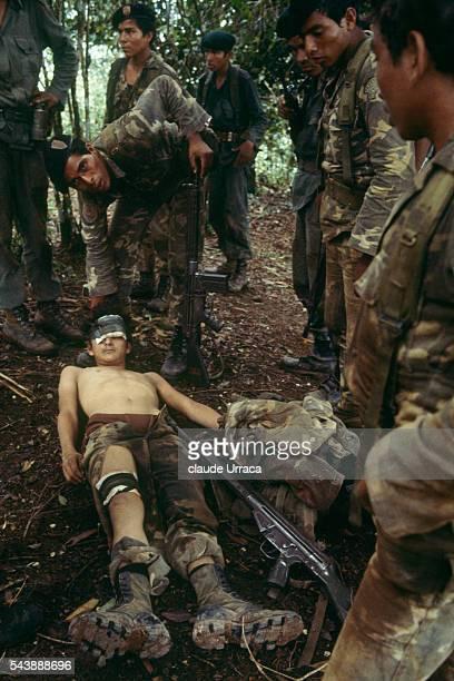 El Salvadoran soldier injured during a military operation in eastern Morazan | Location Morazan El Salvador