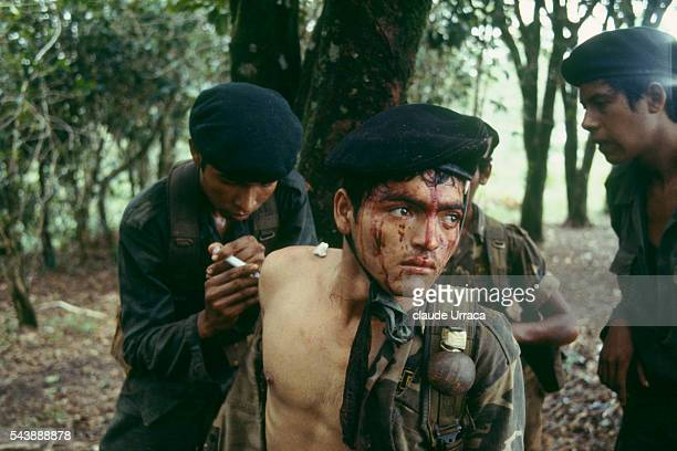 El Salvadoran soldiers injured during a military operation in the area of Morazan | Location Morazon El Salvador