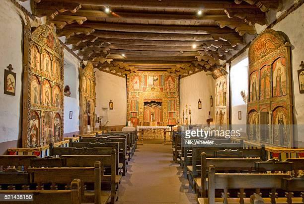 El Santuario de Chimayo church interior in Chimayo New Mexico