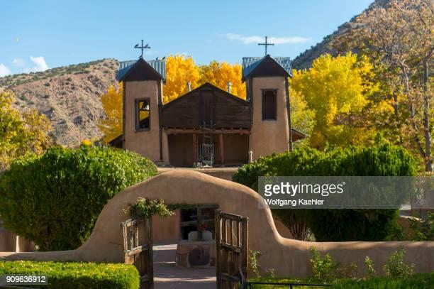 El Santuario de Chimayo was built in 1813 in the small community of El Potrero just outside of Chimayo New Mexico USA