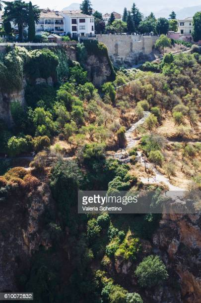 el tajo canyon, ronda, andaluz, spain - luogo d'interesse stock pictures, royalty-free photos & images