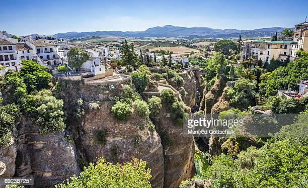 el tajo gorge and rio guadalevin ronda - ronda stock pictures, royalty-free photos & images