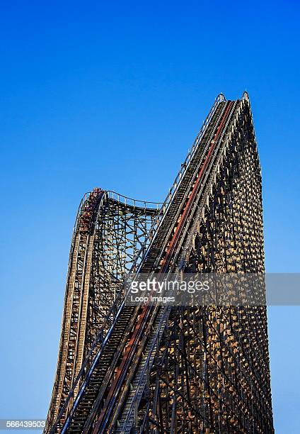 El Toro wooden roller coaster at Great Adventure Six Flags theme park