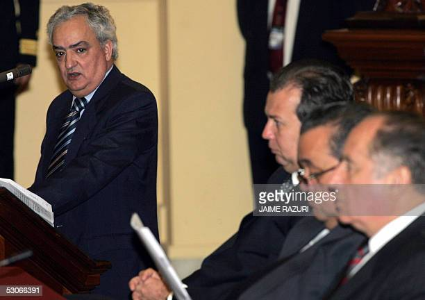 El vice presidente del Parlamento Europeo Manuel Antonio dos Santos da su discurso inaugural en la XVIII Conferencia Interparlamentaria Union...