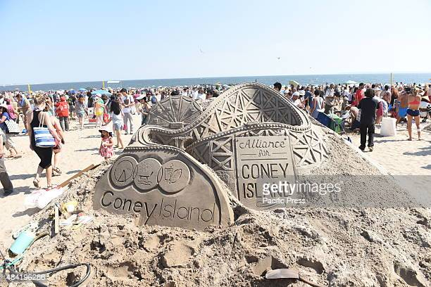 Elaborate Alliance for Coney Island sculpture Contestants and teams participated in the 25th annual Coney Island Sand Sculpting contest