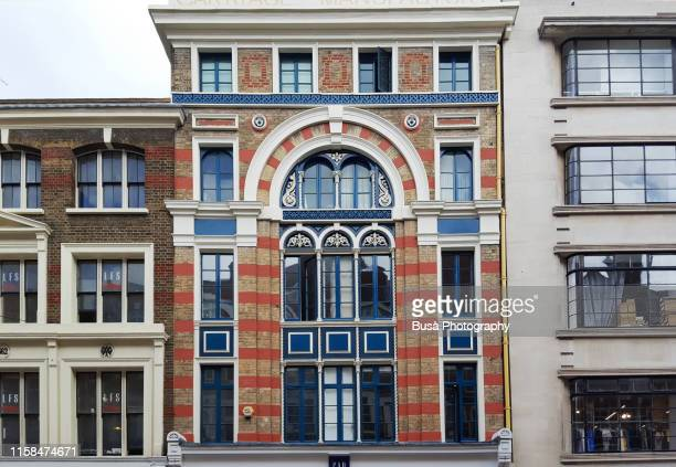 elaborate facade of townhouse near covent garden market in the west end of london, england - flat stock pictures, royalty-free photos & images