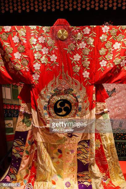Elaborate Kabuki Kimono Kabuki is a traditional Japanese form of theater developed during the Edo Period rich in showmanship and involves elaborately...