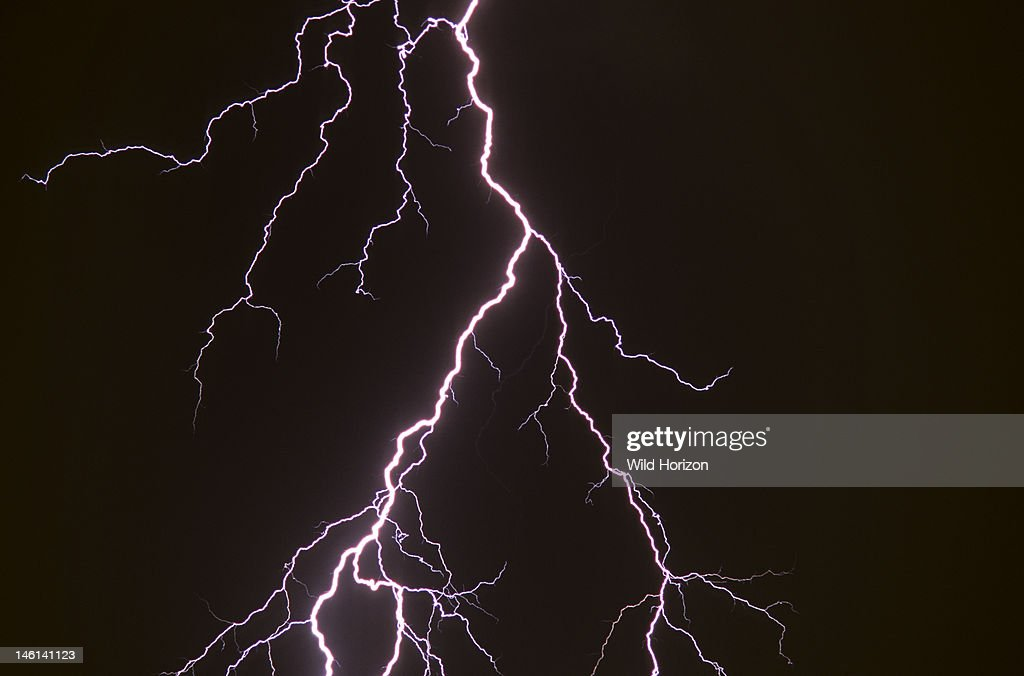 elaborately forked cloud to ground lightning discharge tucson