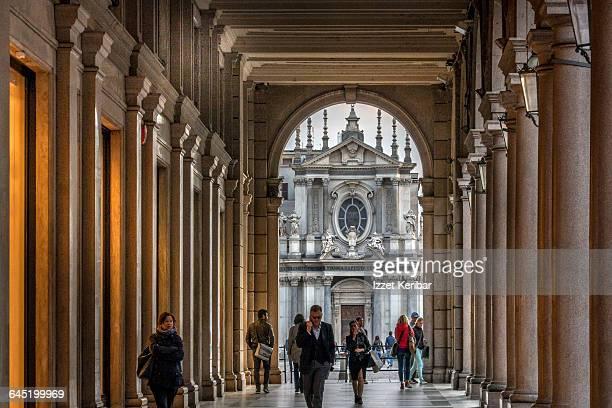 Elagant shopping street Via Roma, Turin,Italy